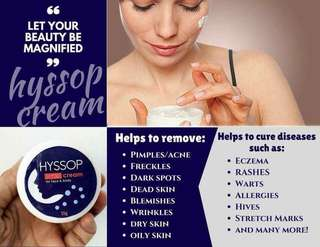 Hyssop Cream is a Hypoallergenic Whitening and Anti-aging Cream