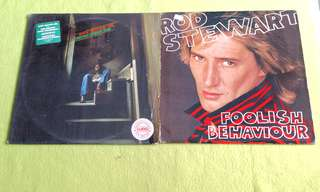 Pding REX ALLEN JR. another goodbye song ● ROD STEWART . foolish behaviour ( buy 1 get 1 free )  Vinyl record