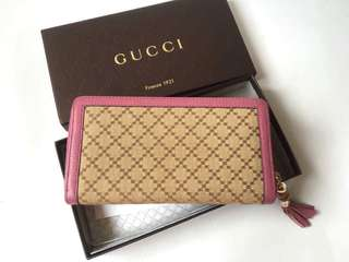 Authentic Gucci Zipper Wallet Special Design