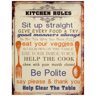 Kitchen rules posters