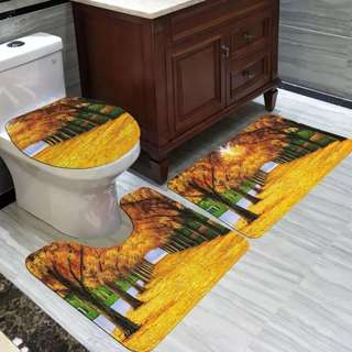 TOILET CARPET MAT 3IN 1