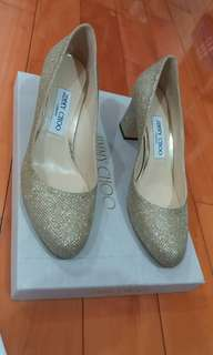 Jimmy Choo Shoes Billie 65 Glitter Gold 38 (wedding/evening party)