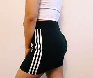 Originals black three stripe adidas skirt