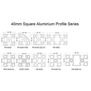 40mm Aluminium Profile Range