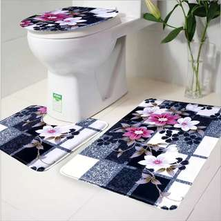 TOILET CARPET MAT 3 IN 1