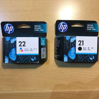 HP21 HP22 black and color ink printer new