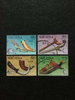 1995 Traditional Malay Weapons (Series 2) 4V Used Set
