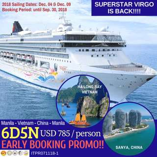 6D5N Super Star Virgo Cruise: Manila-Vietnam-China-Manila