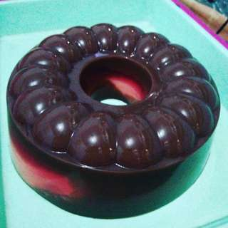 PUDING COKLAT STROWBERRY