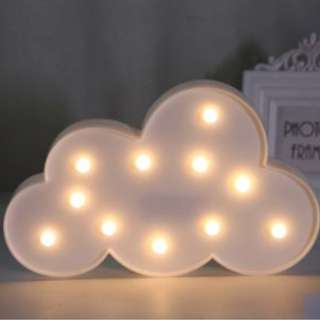 Dessert Table Props Rental_Cloud Shaped Batt Operated Deco Light