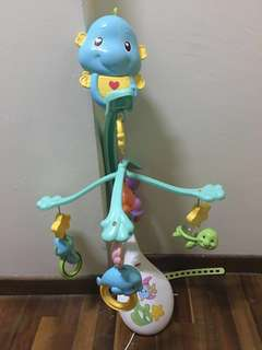 Fisher Price toys 3 in 1 soothe and play cot mobile crib mobile seahorse crib mobile with 4 rattles Mattel toys