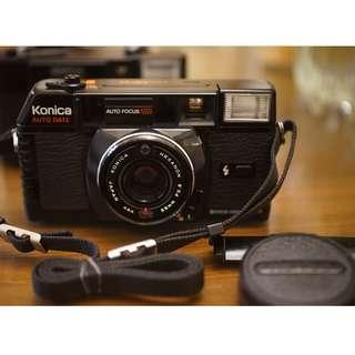 不錯街拍銘機 Konica C35 MFD HEXANON 38mm/f2.8定焦高階自動對焦 日期被蓋 相機