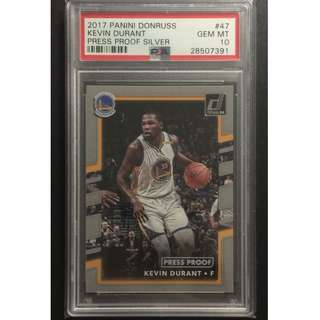 Kevin Durant Card 2017 Press Proof Silver Original Card