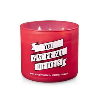 Bath and Body Works You Give Me All The Feels Candle