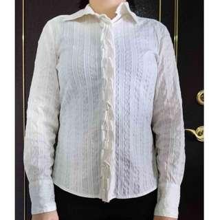 THEME 白色OL襯衫