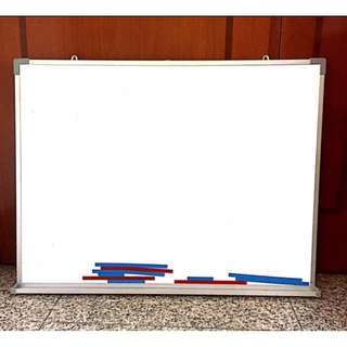White Board with Magnetic Base ,comes with Magnets