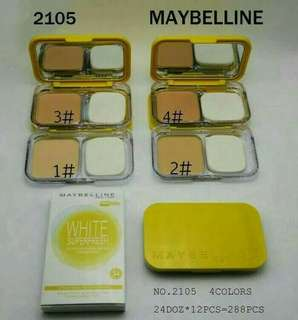 MAYBELLINE WHITE SUPERFRESH TWO WAY CAKE (BEDAK PADAT MAYBELINE)