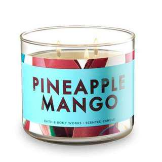 Bath and Body Works Pineapple Mango 3-Wick Candle