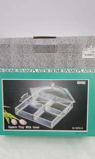 Square Snack Tray With Cover