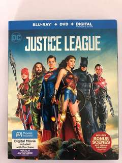 🚚 Justice League Blu-ray + Dvd Movie