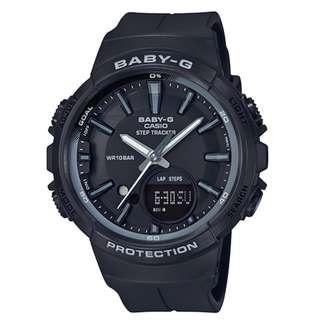 CASIO Baby-G BGS-100 series Step Tracker 黑色 BGS-100SC 跑步專用 計步器 BabyG BGS100SC