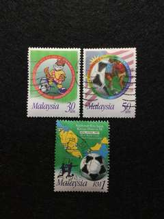 1997 9th World Youth Football Championship 3 Values Used Set