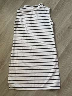 STRIPES DRESS WITH SHORT