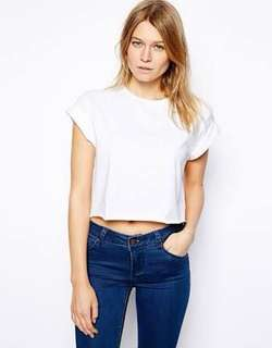 ASOS Cropped Boyfriend Tee with Roll Sleeves