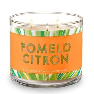 Bath and Body Works Pomelo Citron 3-Wick Candle