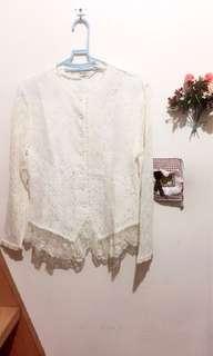 超美古典宮廷氣質風蕾絲設計上衣(復古、古著風)