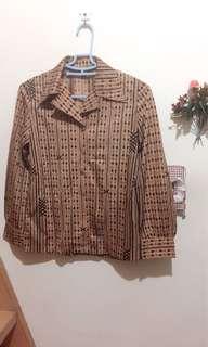 超美粉嫩色宮廷古典撲克牌風格氣質襯衫(復古、古著風)