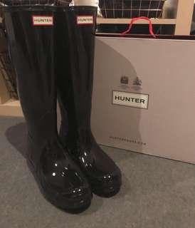 Hunter Original Back Adjustable Gloss Ladies Wellies/Gumboots