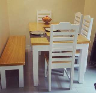 White dining set 6 seaters