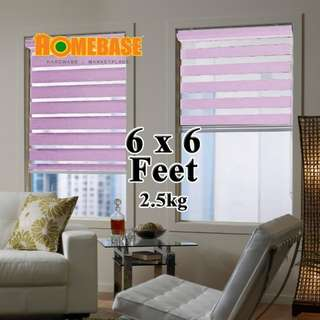 HOMEbase Zebra Blind (190cm x180cm) * Purple