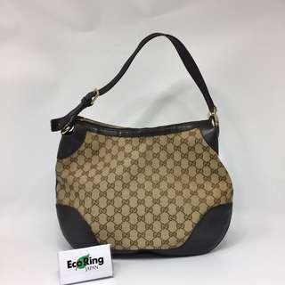 Gucci GG Canvas Brown Shoulder Bag 啡色 單肩包 100%真品