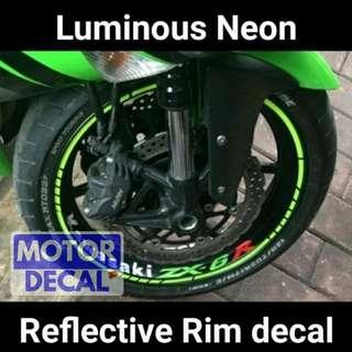 Neon Reflective Rim Decal