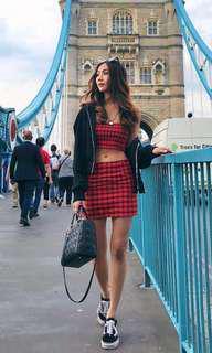 Becca Plaid Gingham Skirt INSTOCK
