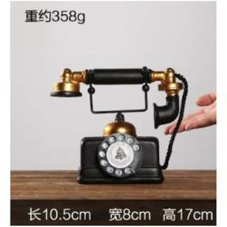 European Decorative Fake Telephone Props Model Rental_Vintage Style