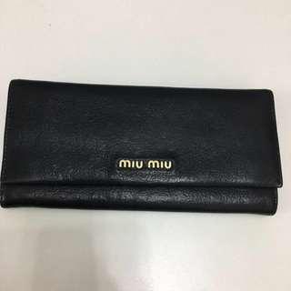 Miu Miu black colour 長銀包long wallet