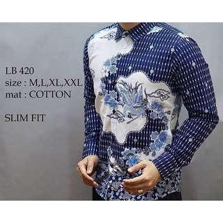 Kemeja Batik Slim-Fit PREMIUM