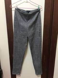 🚚 Forever21 高腰格紋軟布材質褲