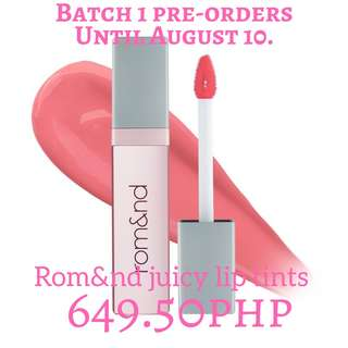 Rom&nd juicy lip tints