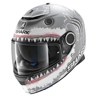 Shark Spartan Helmet (Replica Lorenzo White Shark Mat)