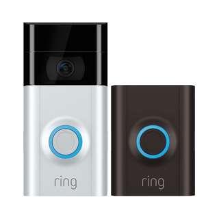 [IN-STOCK] RING Video Doorbell 2 - Next-gen Video Doorbell with enhanced video resolution and quick-release battery.