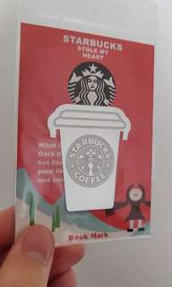 Metal Starbucks Drink Bookmark
