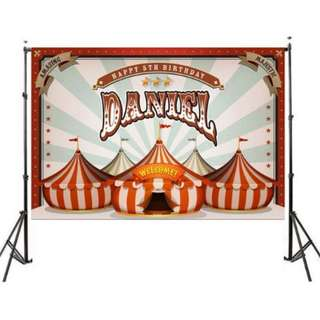 Circus Theme Photo Booth Back Drop