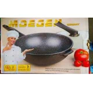 Panci moegen germany wok pan anti lengket bahan tebal dan berkualitas bagus