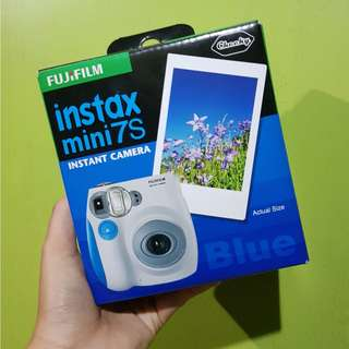 Brand new Fujifilm Instax blue mini 7s with warranty
