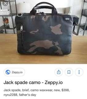 Jack Spade Men's Camo Waxwear Slim Brief