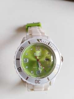 Ice watch 白綠色 膠錶